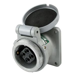 Appleton ADR3044 Pin & Sleeve Receptacle, 30 Amp, 4-Pole, 4-Wire