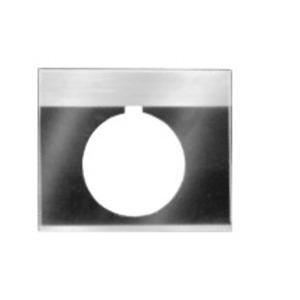 GE CR104PXN2BP030 Nameplate, 30mm, Black/Gray, Metal, Black Text (RESET)