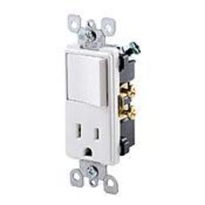Leviton 5625-W 15 Amp Decora Combination Switch, White