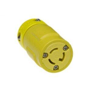 Woodhead 2534 Super-Safeway® Connector with Locking Blade, 2 Pole/3 Wire, NEMA L7-15, 277V