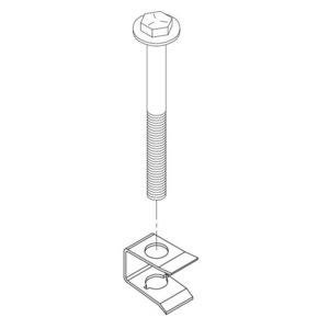Oldcastle Precast 3005110 Bolt Kit, Set of (2), For Use With Lids: N09R, N16R, N30R, N36R