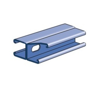 "Power-Strut PS200-H-W-1/4-10-PG Channel, Back-to-Back, Elongated Holes, Galvanized, 1-5/8"" x 3-1/4"" x 20'"