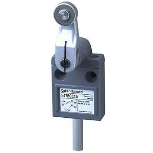 Eaton E47BCC15 Limit Switch, Compact, Prewired, Roller Lever, 600V
