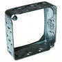 """Hubbell-Raco 201 4"""" Square Extension Ring, 1-1/2"""" Deep, Drawn, Metallic"""