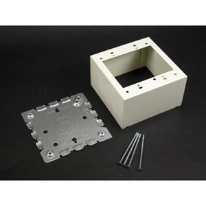 Wiremold V5753 Deep Alarm Device Box, 2-Gang, 500/700 Series, Ivory