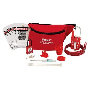 Panduit PSL-PK-EAP Electrician's Lockout Kit, Red