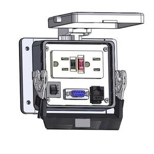 Mencom GF-DB9-RJ45-R-32 Panel Interface Connector, Duplex, 9-Pin D-Sub, RJ45