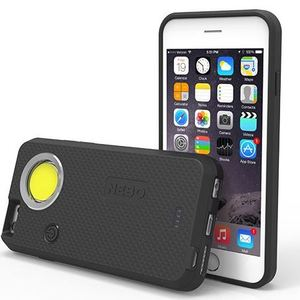 NEBO 6348 CaseBrite iPhone Case, 200 Lumen Flashlight, Black