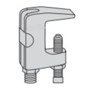 "Power-Strut PS93-1/2-EG Beam Clamp, Universal, Rod Size: 1/2"", Flange: 3/4"", Malleable Iron"