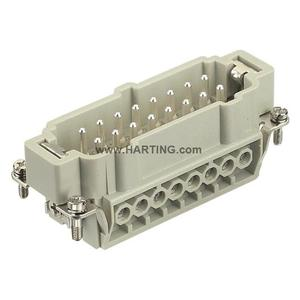 Harting 09330162601 Male Insert, Size 16B, Screw Terminal, 16 Contacts, 16A, 500V