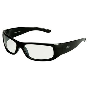 3M 11216-00000-20-EA Moon Dawg Safety Glasses, I/O Mirror Lens, Black Plastic Frame