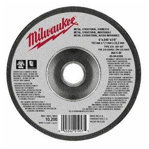 Milwaukee 49-94-6305 CUTTING WHL 6 X .045 X 7/8 TYPE 27