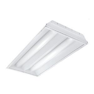 Lithonia Lighting 2RT5S28T5MVOLTGEB95LPM835P Volumetric Recessed Fixture, 4', 2-Lamp, T5, 120/277V, 28W