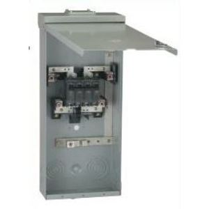 GE THQMV200NRE Breaker Enclosure, 200A, 120/240VAC, NEMA 3R, 22kAIC, Complete