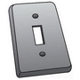 OZ Gedney FS-1-SCS Switch Cover, 1-Gang, Steel