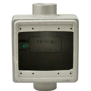 "Appleton FDC2100 FD Device Box, 2-Gang, Feed-Thru, Type: FD, 1"", Malleable Iron"