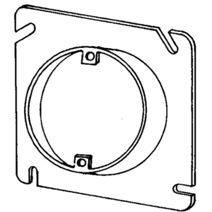 "Appleton 8488C 4-11/16"" Square Cover, 1-Device,Mud Ring, 3/4"" Raised,Drawn"