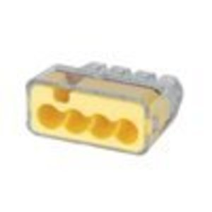 Ideal 30-1634 Wire Connector, Yellow, 4-Port