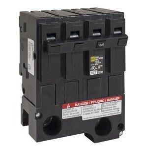 Square D HOM2200BB Breaker, Homeline, 2P, 200A, 120/240VAC, 10kAIC, Takes 4 Spaces