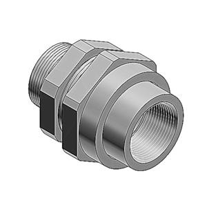 Ocal UNY505-G PVC CTD UNY MALE UNION 1-1/2IN GRAY
