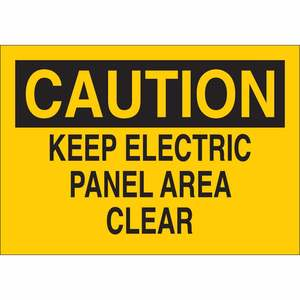 25512 ELECTRICAL HAZARD SIGN