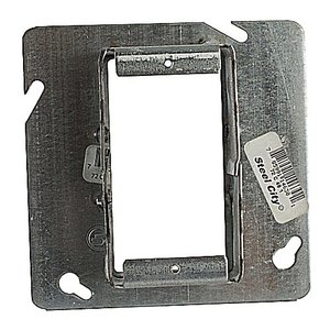 """Steel City 72-C-49-1 4-11/16"""" Square Cover, 1-Device, Tile Ring, 1"""" Raised, Drawn"""