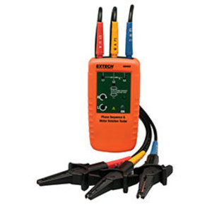 Extech 480403 Phase Sequence Indicator / Motor Rotation Tester