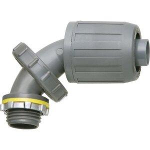 """Arlington NMLT590 Liquidtight Connector, Type: Push-On, 1/2"""", 0° to 90°, Non-Metallic"""