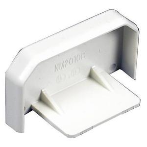 Wiremold NM2010B Blank End Fitting, Plugmold 2000 Series, Non-Metallic, Ivory