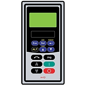 Allen-Bradley 22-HIM-C2S Human Interface Module, Remote, Panel Mount, LCD Display, Keypad