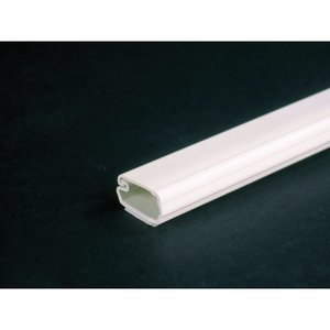 "Wiremold 2700-FW Non-Metallic Surface Raceway, One-Piece, Hinged, 3/4"" x 6', Fog White"