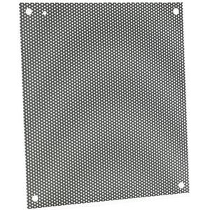 "Hoffman A10N8PP Perforated Panels For Type 1 & 3R Enclosure, 8.25"" x 6.25"", Steel"