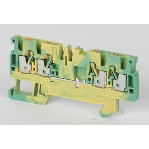 Allen-Bradley 1492-PG3Q Terminal Block, Grounding, Yellow/Green, 5.1mm, 600VAC/DC, 26-12AWG
