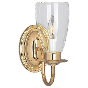 Sea Gull 4167-02 Wall Light, 1 Light, 60W, Polished Brass