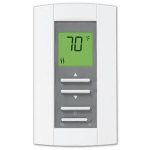 Aube Technologies TH114-A-240D-B Thermostat, Electronic, Non-Programmable, Double Pole, White