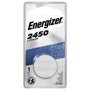 Energizer ECR2450BP 3V Lithium Coin Battery, 620 mAh, Size 2450