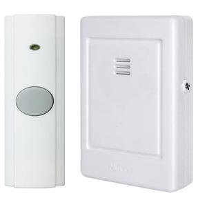 """Nutone LA225WH Wireless Chime, Portable, White, Dimensions: 2-3/4"""" x 4-1/4"""" x 1"""""""