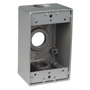 S105CN BOX W/P 1G GREY 3 3/4 HOLES