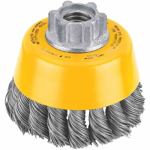 "DEWALT DW4910 Wire Brush, 3"", Carbon Steel, 5/8"" - 1"
