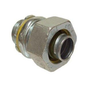 "Bizline BZL3403 Liquidtight Connector, Straight, 3/4"", Non-Insulated, Steel"
