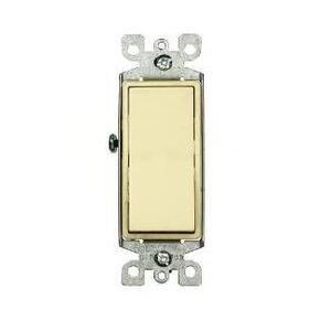 Leviton 5603-2I 3-Way Decora Switch, 15A, 120/277V, Ivory, Residential Grade