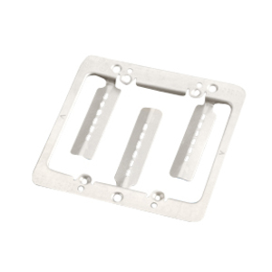 Erico Caddy MPLS2 Mounting Bracket, 2-Gang, Low Voltage, Cut-In, Metallic