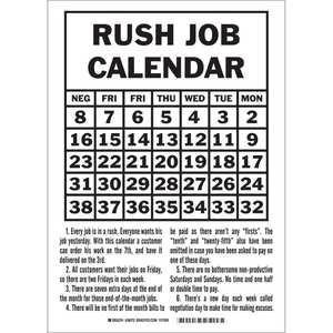 38072 RUSH JOB CALENDAR...