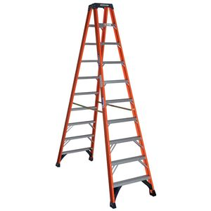 Werner Ladder T6310 10' Twin Step Ladder, 300 lbs