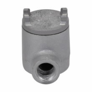 """Cooper Crouse-Hinds GUAB24 Conduit Outlet Box, Type GUAB, (2) 3/4"""" Hubs, Malleable"""