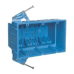 "Carlon BH353S Switch/Outlet Box, 3-Gang, Depth: 3-1/2"", Nail-On, Non-Metallic"