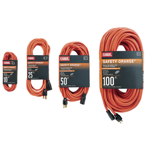 General Cable 03356.63.04 Indoor/Outdoor Extension Cord, Orange, 14/3 SJTW, 50' Long