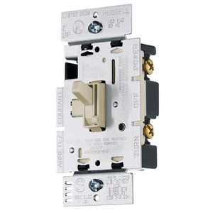 Hubbell-Wiring Kellems RAY600PI DIMMER, SP, TOGGLE, 600W 120V, IV