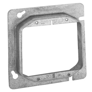"Hubbell-Raco 819 4-11/16"" Square Cover, 2-Device, Mud Ring, 1"" Raised, Drawn"