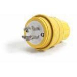 Woodhead 28W76 Locking Plug, 30A, 3PH 480V, 3P4W, Wetguard